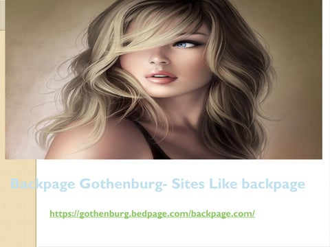 Backpage gothenburg