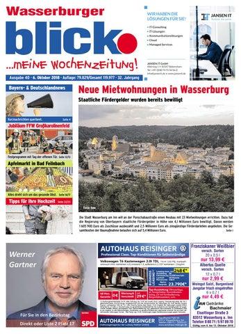 Wasserburger Blick Ausgabe 40 2018 By Blickpunkt Verlag Issuu