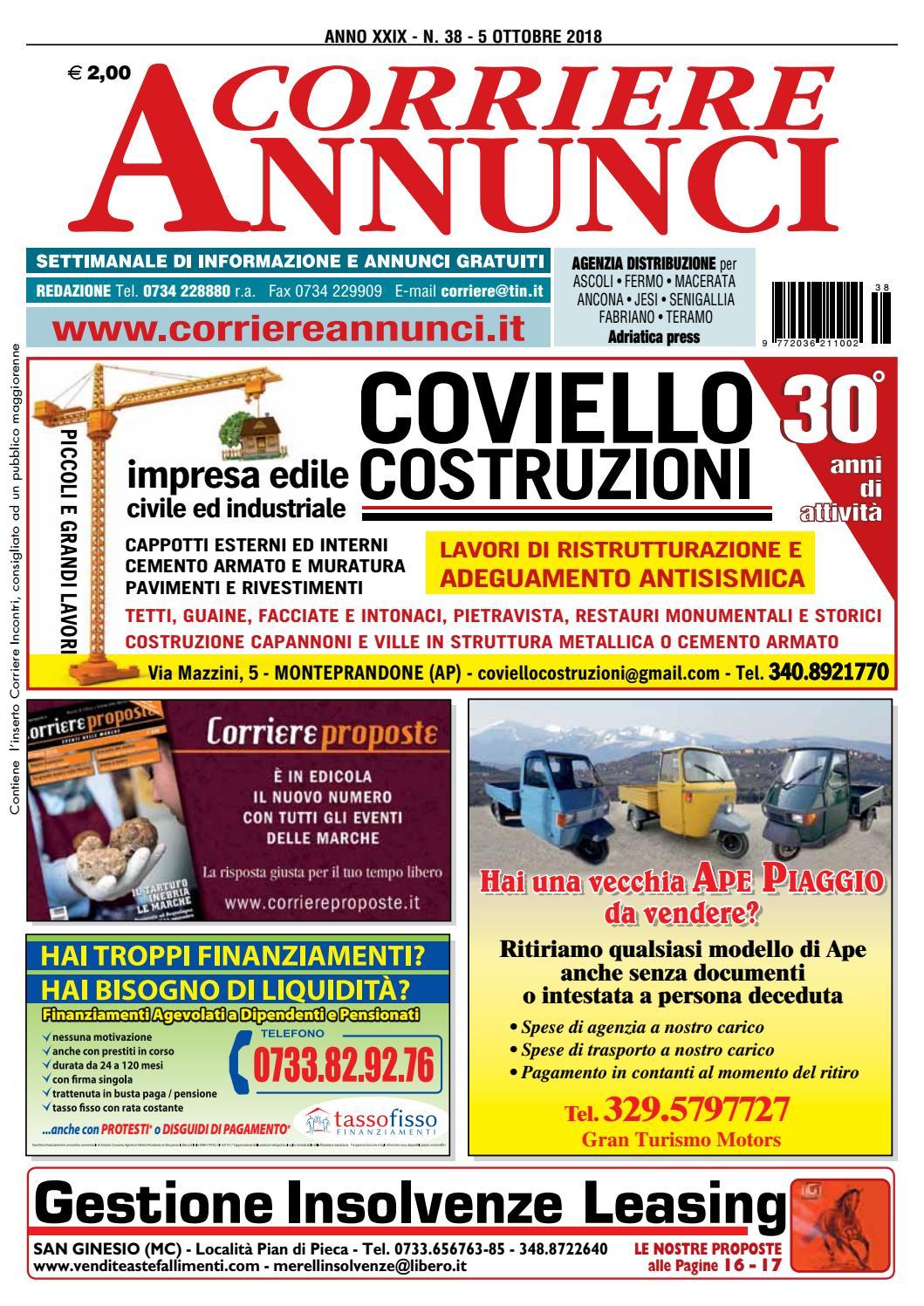 Corriere 38-2018 by Corriere Annunci - issuu 97d1182e1a1