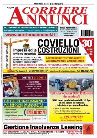7e04b8b475af Corriere 38-2018 by Corriere Annunci - issuu