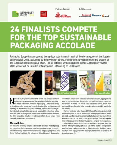 Page 13 of 24 Finalists Compete for the Top Sustainable Packaging Accolade