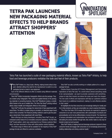 Page 47 of Tetra Pak launches new packaging material effects to help brands attract shoppers' attention