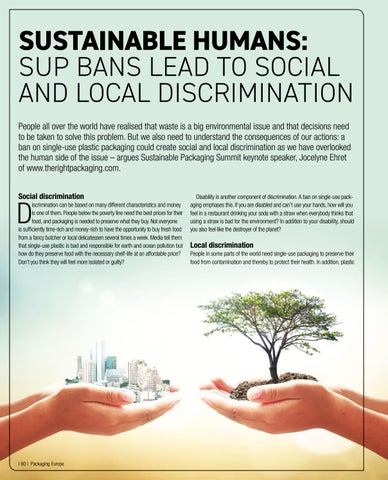 Page 62 of Sustainable Humans:  SUP bans lead to social and local discrimination