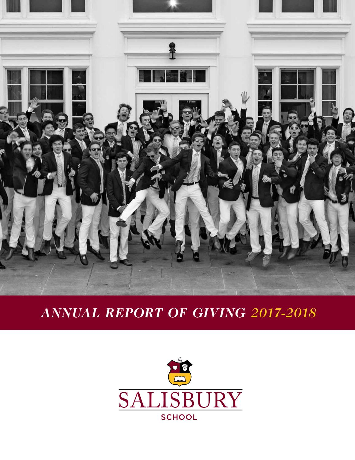 2017 18 Annual Report Of Giving By Salisbury School Issuu