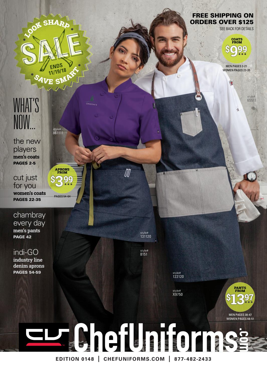 S-3X, Black Men/'s Asymmetrical Premium Denim Chef Coat with Mesh Side Panels