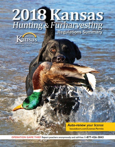 2018 Kansas Hunting Regulations Summary by Kansas Department