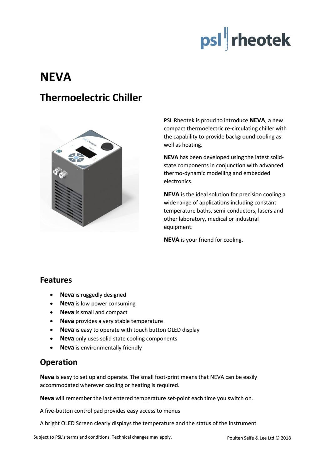 Neva Thermoelectic Chiller by Sophie Gosling - issuu