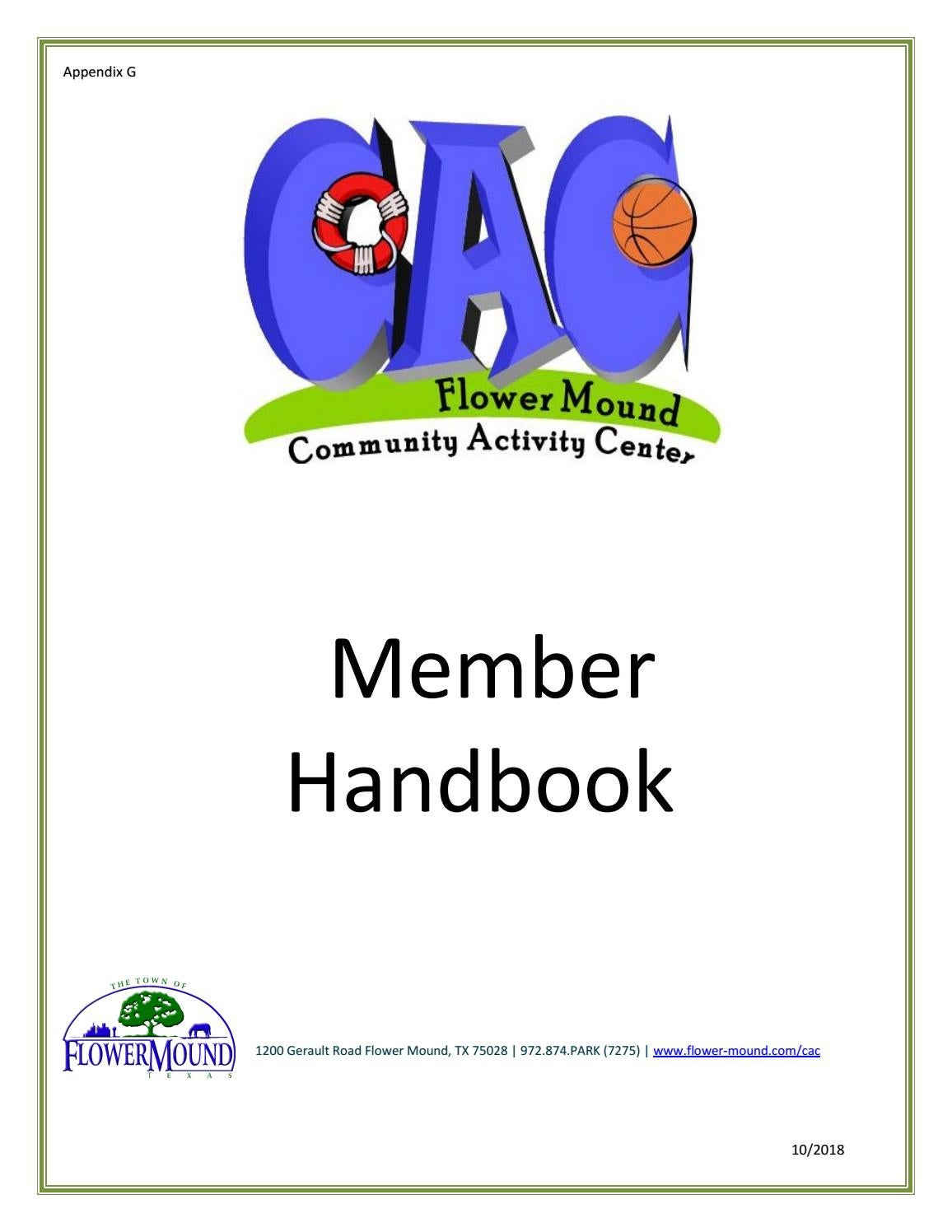 Cac Member Handbook By Town Of Flower Mound Issuu