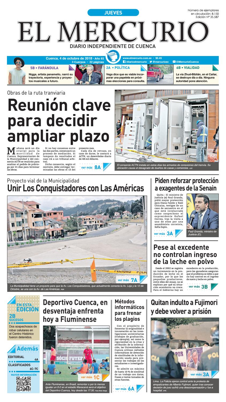hemeroteca-04-10-2018 by Diario El Mercurio Cuenca - issuu 4fce18141d3