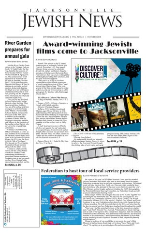 Jacksonville Jewish News October 2018 By Jewish Jacksonville News