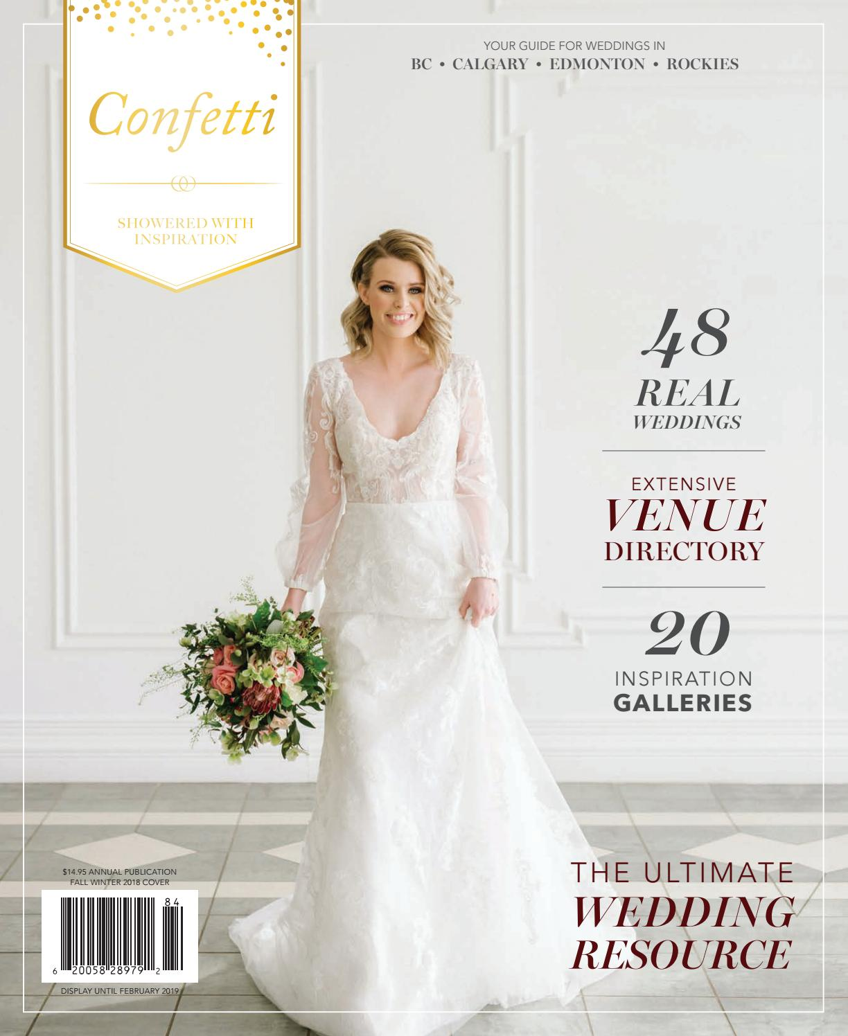 a1704eb235e520 Confetti Magazine - Fall/Winter 2018 by Calgary Bride - issuu