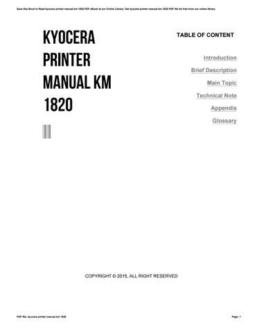 manual kyocera km 1820
