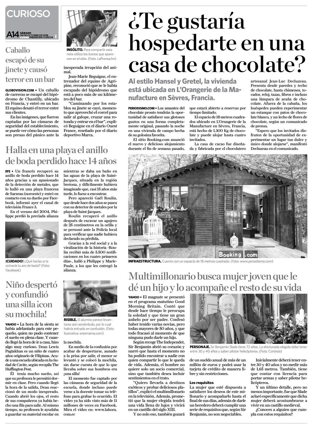 0ac4e08ebbca Imbabura 06 de octubre de 2018 by Diario La Hora Ecuador - issuu