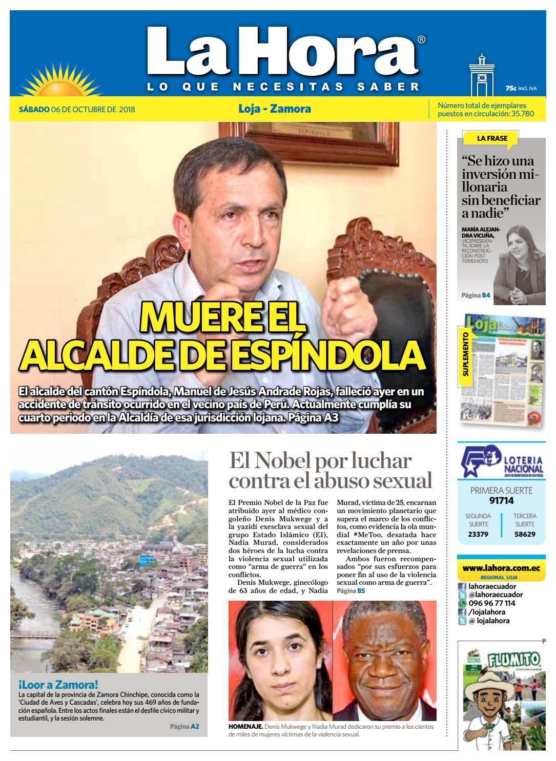 63acd09eee137 Diario La Hora Loja 06 de Octubre 2018 by Diario La Hora Ecuador - issuu