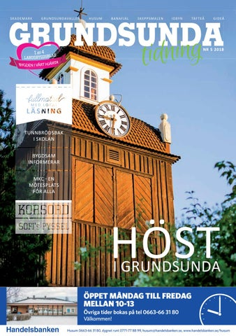 Grundsunda Tidning nr 5/2018 by Olof Wigren Media AB - issuu