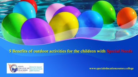 72892afa36c93 5 Benefits of outdoor activities for the children with Special Needs