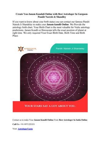 Best Of Vedic Astrology Chart Cartlesslbro