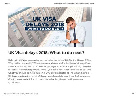 UK Visa delays 2018: What to do next? – The SmartMove2UK by