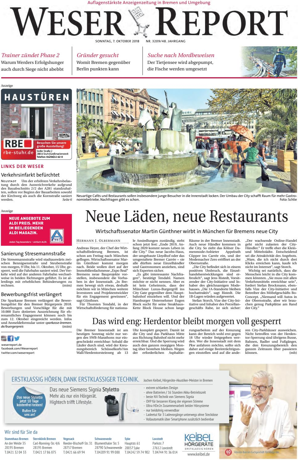 Weser Report - Links der Weser vom 07.10.2018 by KPS ...