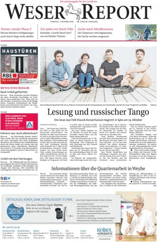 Weser Report Weyhe Syke Bassum Vom 07102018 By Kps