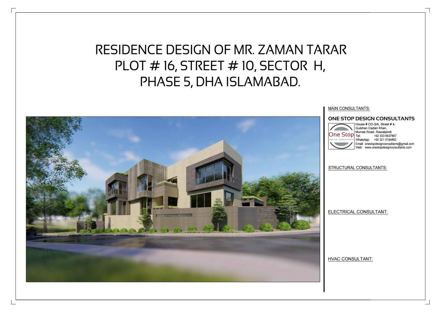 Mr zaman tarar house phase 5 dha islamabad by haseeb saeed issuu