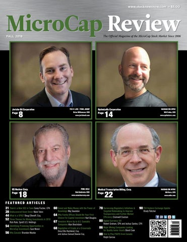 microcap review fall 2018 by microcap review magazine issuu