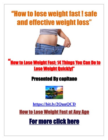 How To Lose Weight Fast Safe And Effective Weight Loss Weight