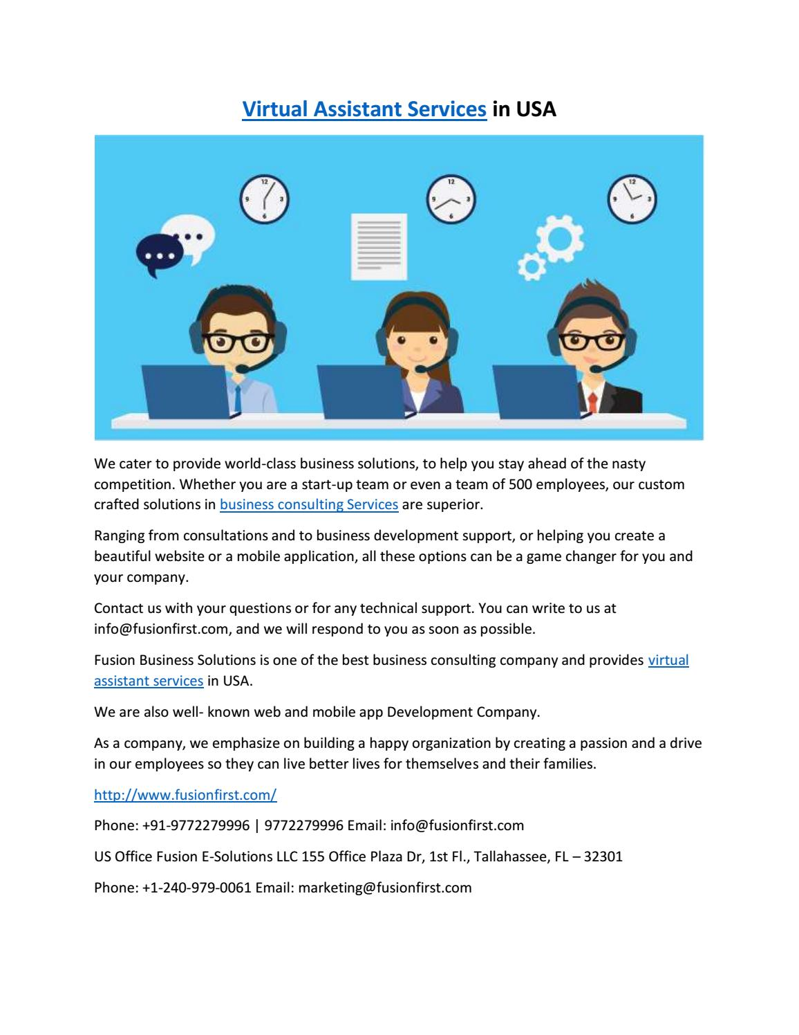 virtual assistant services by Fusion Business Solutions - issuu