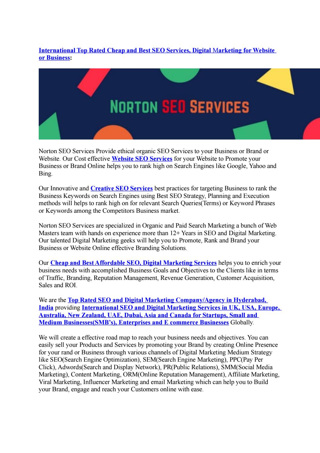Top and International Best SEO and Digital Marketing