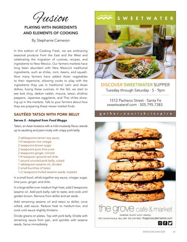 Page 43 of Cooking Fresh: Fusion
