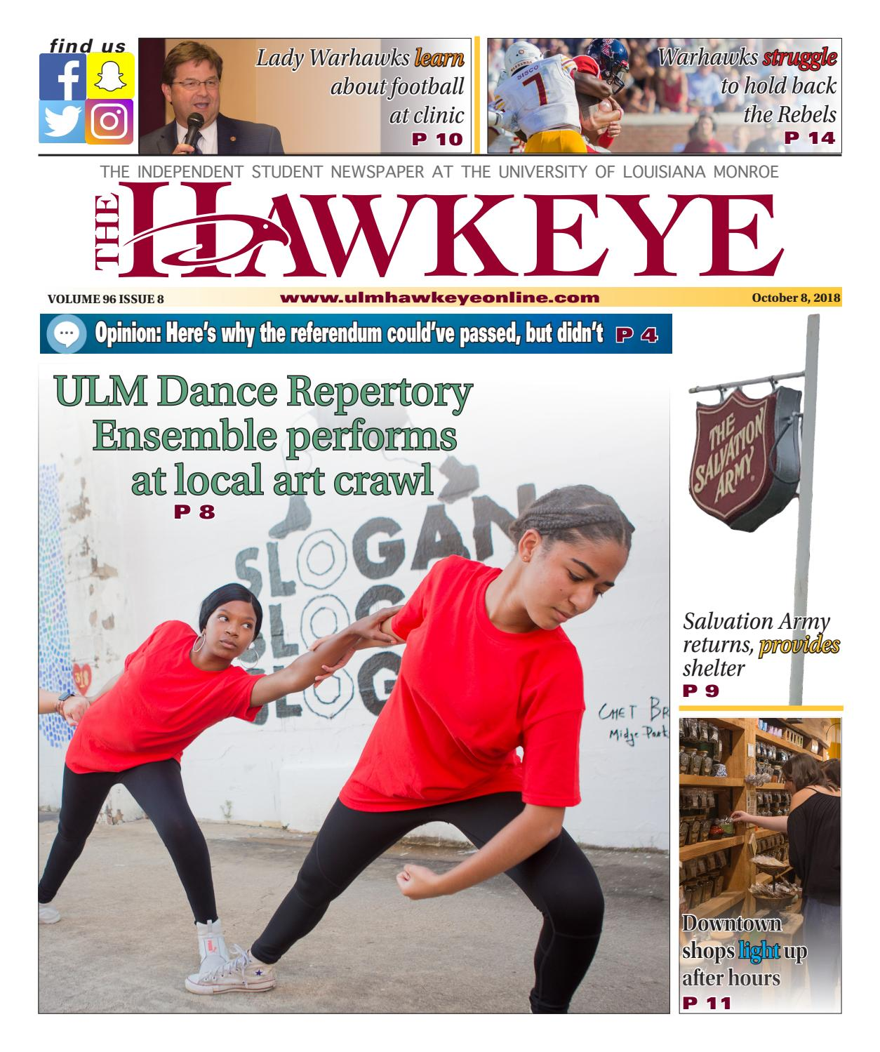 October 8, 2018 Issue by The ULM Hawkeye - issuu