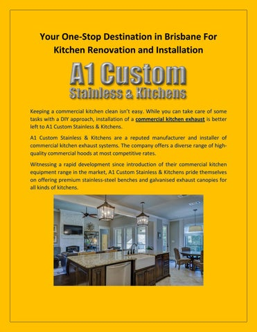 Your One-Stop Destination in Brisbane For Kitchen Renovation and Installation