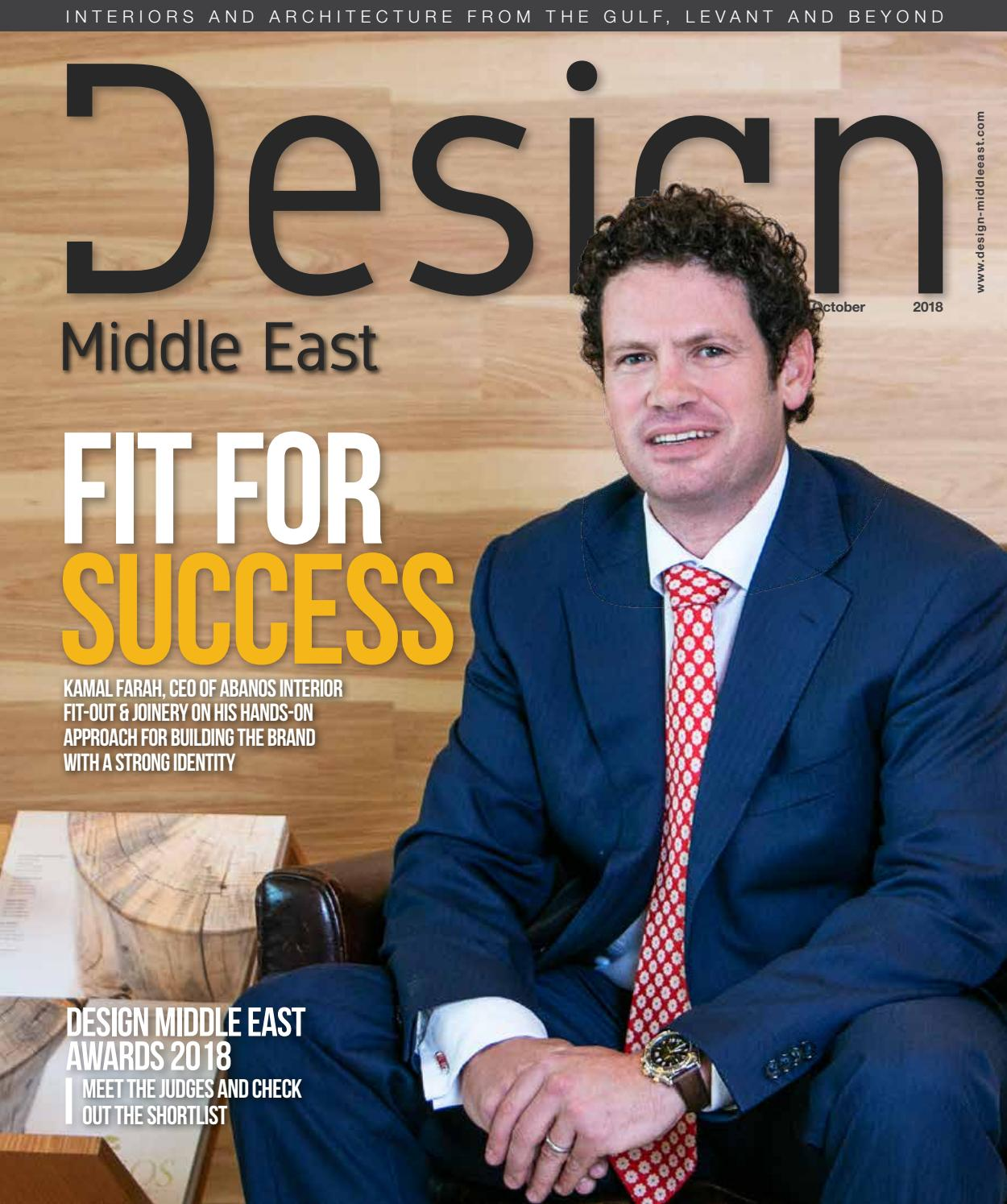 Design Middle East October 2018 By Design Middle East Issuu