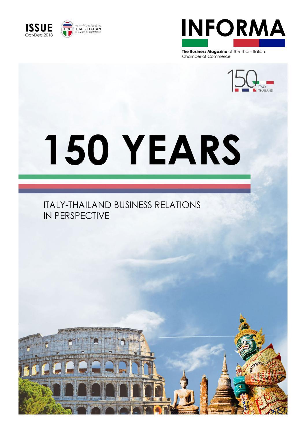 Informa Oct Dec 2018 By Thai Italian Chamber Of Commerce