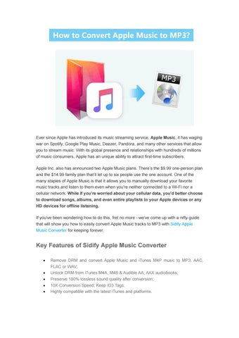 Ultimate Guide to Convert Apple Music to MP3 by Alexavier Miller - issuu