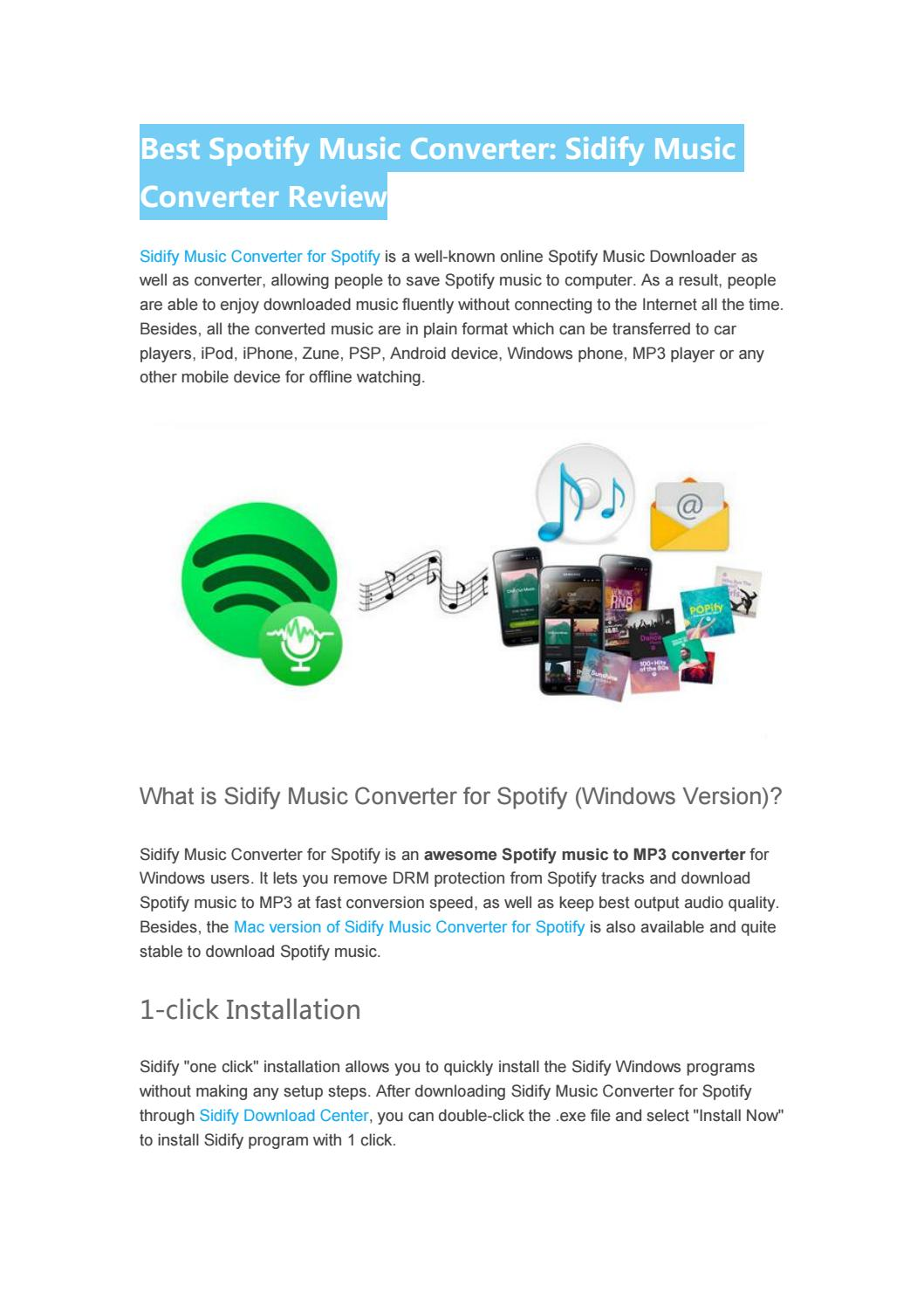 Best Spotify Converter Review -- Sidify Music Converter for Spotify