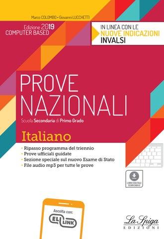 Invalsi Scuola Secondaria I Grado Italiano 2019 By Eli