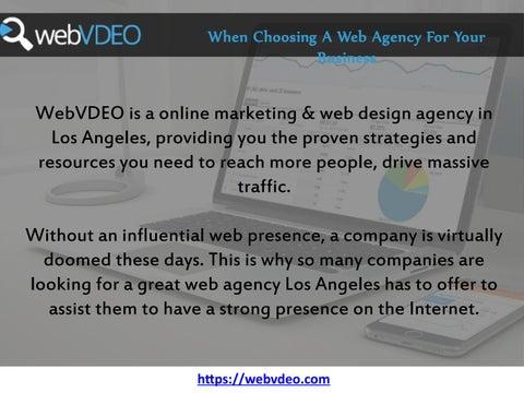 Los Angeles Web Design By Webvdeo Issuu