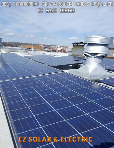 Best Commercial Solar Power Panels Installer in San Diego by