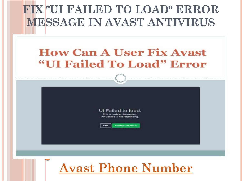 ui failed to load avast