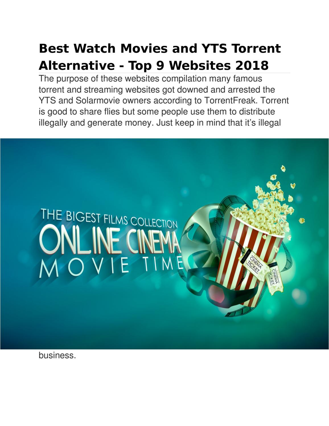 best torrent streaming sites 2018