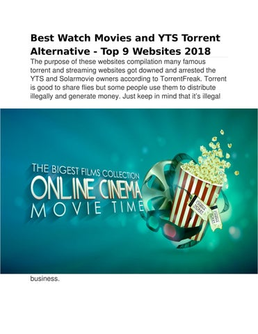 Best Watch Movies and YTS Torrent Alternative - Top 9 Websites 2018