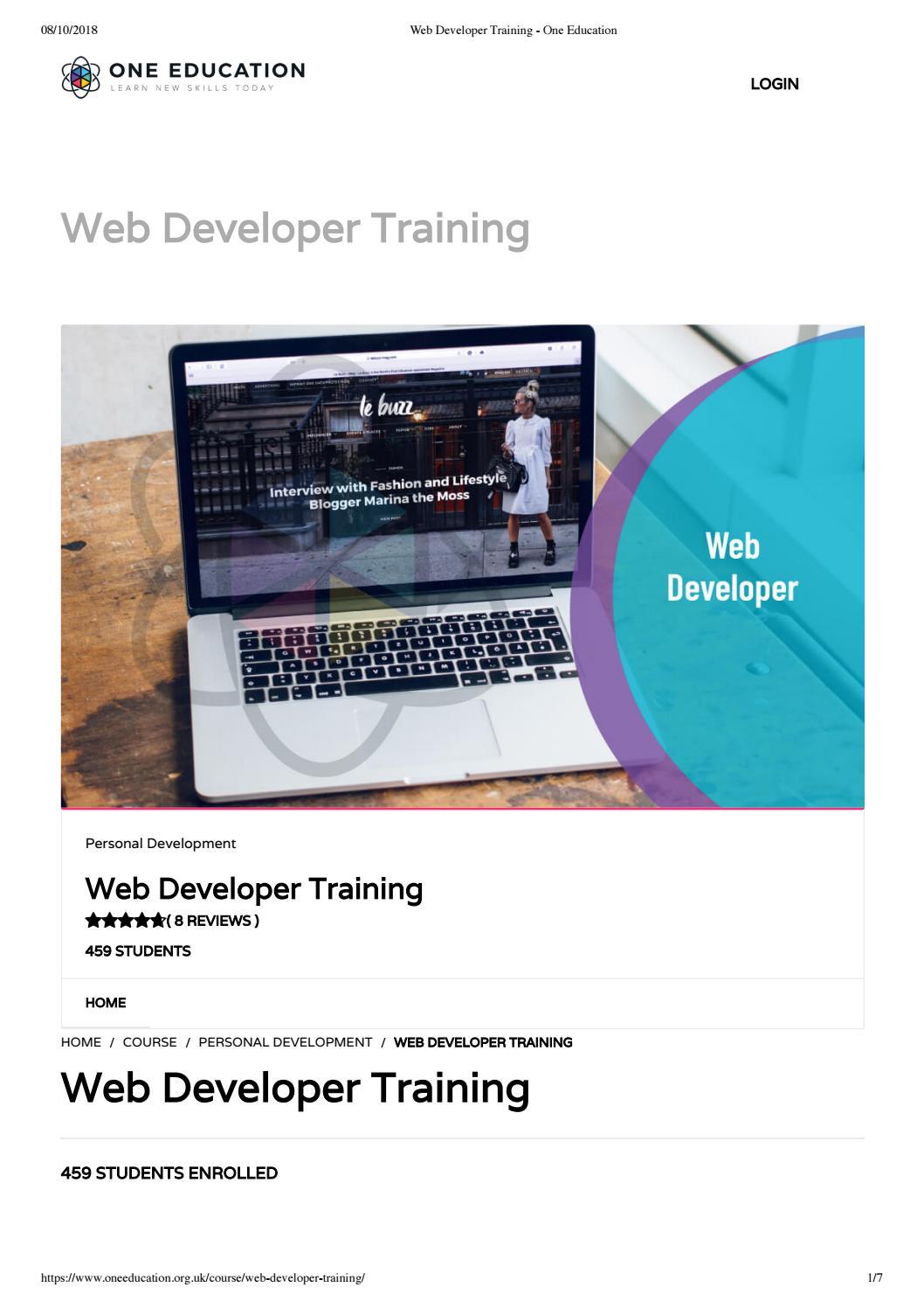 Web Developer Training One Education By One Education Issuu