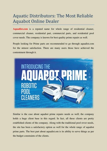 Approach Aquatic Distributors for Reliable Pool Cleaner in