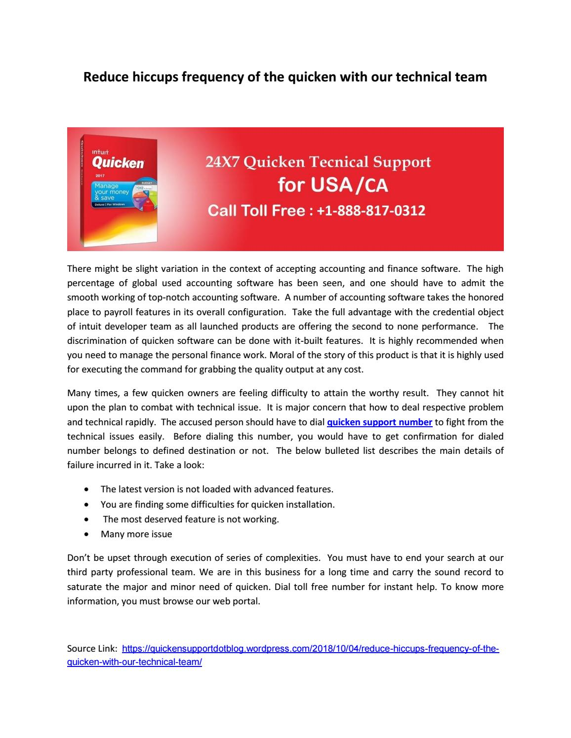 quicken support number +1-888-817-0312 by emilywill093 - issuu