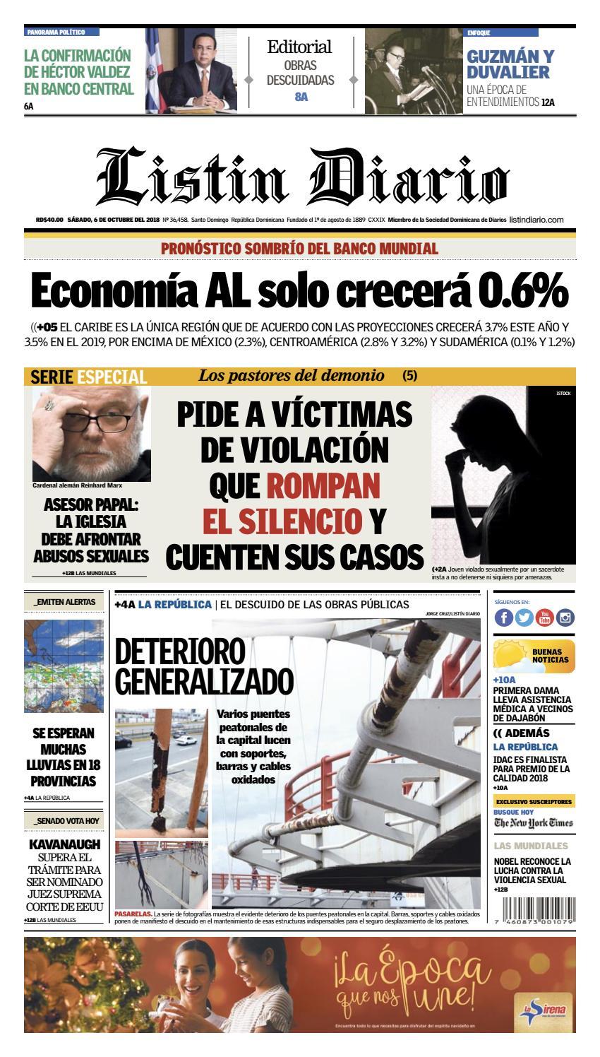 brand new 6cb03 17d6c LD 06-10-2018 by Listín Diario - issuu