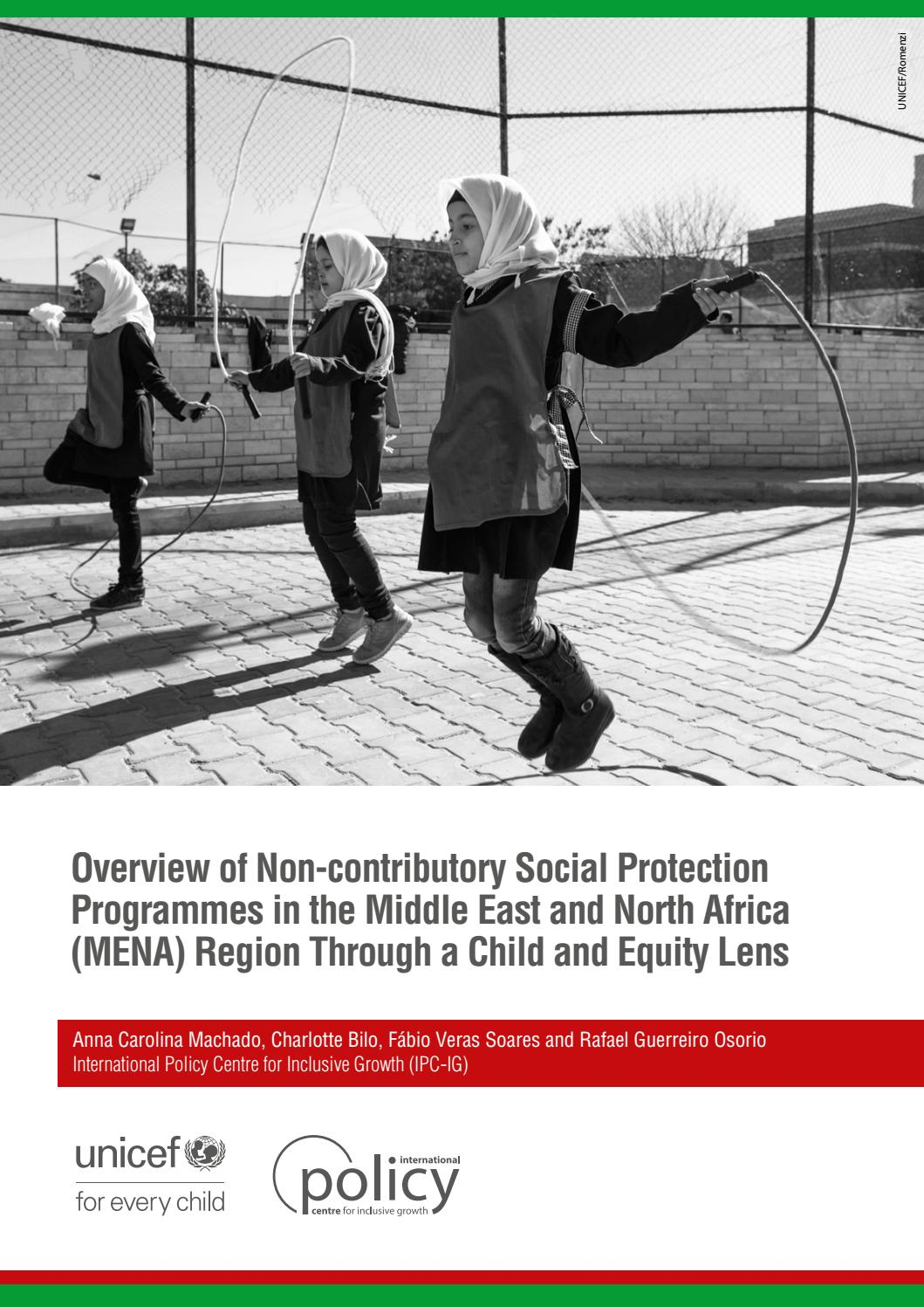 Overview of Non-contributory Social Protection Programmes in the Middle  East and North Afric