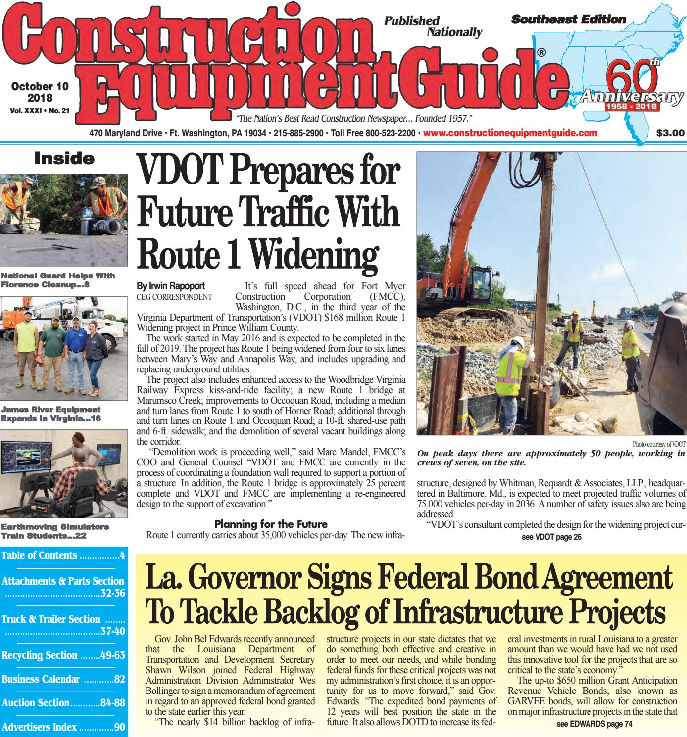 Southeast 21 October 10, 2018 by Construction Equipment Guide - issuu