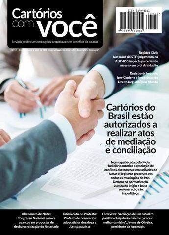 22c131ba3 Revista Cartórios com Você by Jennifer Anielle - issuu