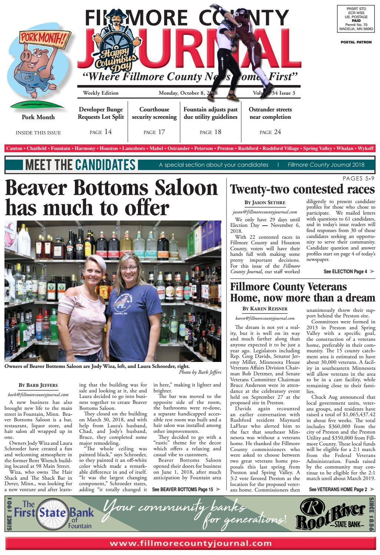 Fillmore County Journal 1 8 2018 by Jason Sethre - issuu